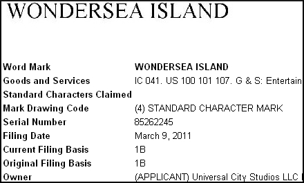 Wondersea Island - Universals New Water Park.