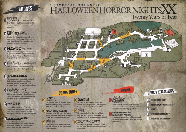HHN XX Map